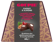 Goupie Cherry And Almond Dairy Free Chocolates 180g